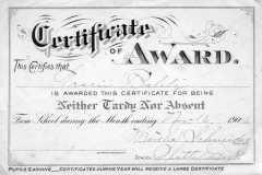 1906-11-16-BalitzTM1896-Attendance-Certificate
