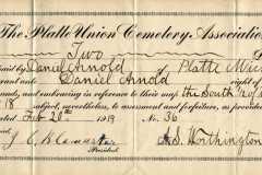 1919-02-20-ArnoldDS1890-Platte-Union-Cemetery-Association-Plot-Receipt