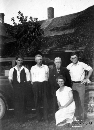 Leo Balitz Fred Balitz, John Kucks, Ernest Balitz, Mary Kucks, circa 1928.