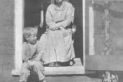 Hannah Pettis and grandson Alvin E. Arnold, circa 1921.