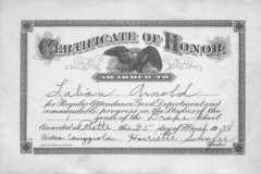 1938-03-25-ArnoldLD1929-Certificate-of-Honor