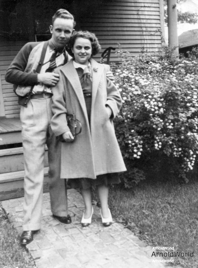 Alvin Arnold and wife Charlotte Burrington, circa 1940.