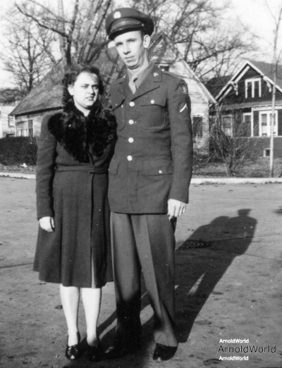 Alvin E. Arnold and wife Charlotte M. Burrington, 1943.