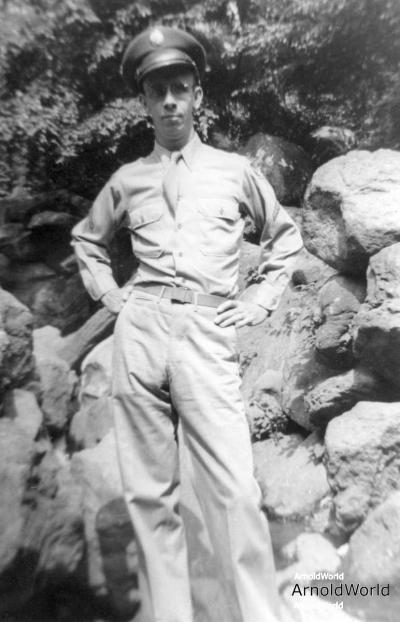 PFC Alvin Arnold, Central Park, New York City NY, July 1943.