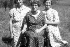 Tracie M. Balitz, Lillian F. and Daisy M. Arnold, July 1944.