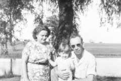 Alvin Arnold & Charlotte Burrington with Carol Lynne Arnold, circa 1948.