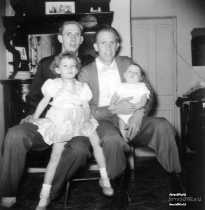 Laban and Allen Arnold with Carol and Roger Arnold, 1952.