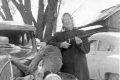 Deer at Dan & Tracie Arnold homestead, circa 1940.