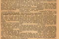 News clipping pertaining to Muskegon area tornado and hail storm in May 1956.