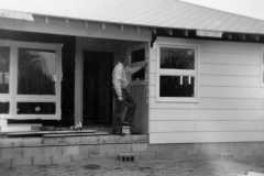 House building in-process, 4086 Bexley Drive, Muskegon, 1961.