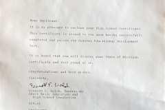 1978-05-03-ArnoldLD1929-High-School-Certificate-Letter
