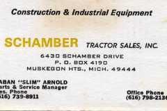 1980-00-00-ArnoldLD1929-Business-Card-Schamber-Tractor-Sales