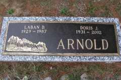 Laban Daniel Arnold and Doris Jane Moore, Grave Marker, 1987 and 2002.