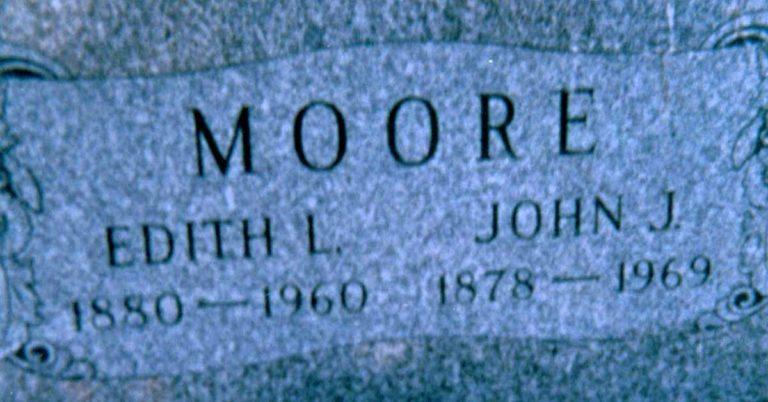 Edith Lillian Buess (aka Moore) Death