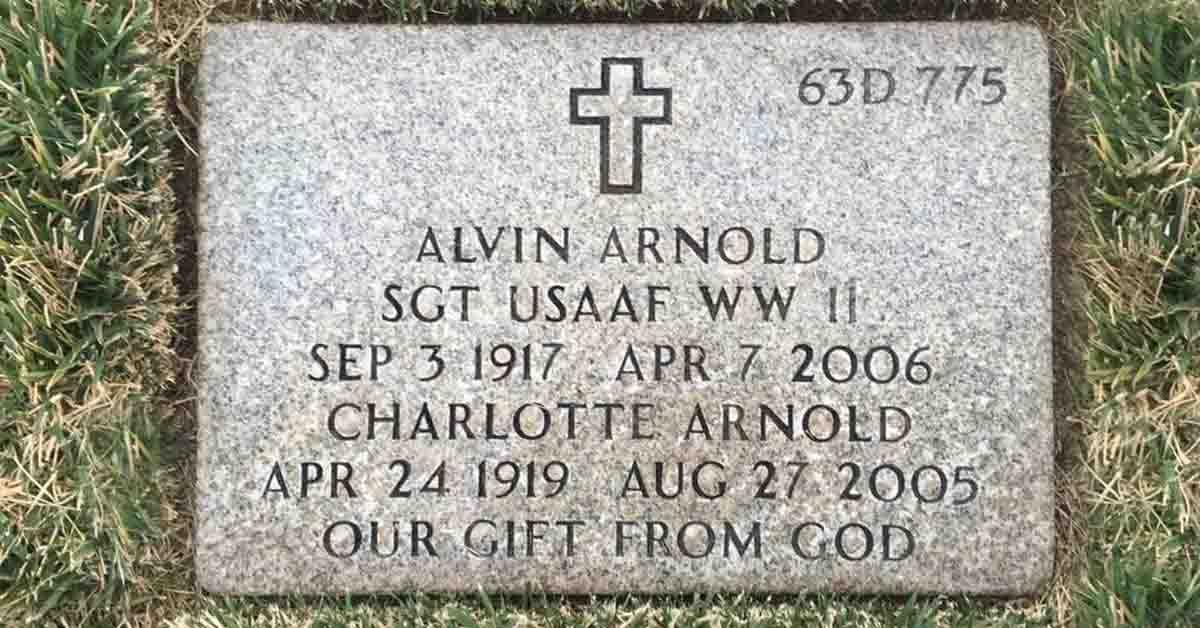 Alvin Ernest Arnold Death
